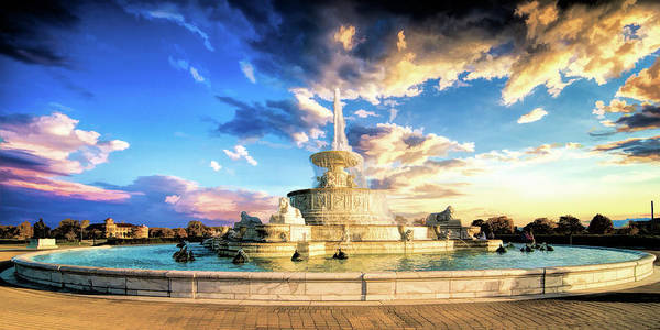 Painting - Detroit James Scott Fountain by Christopher Arndt