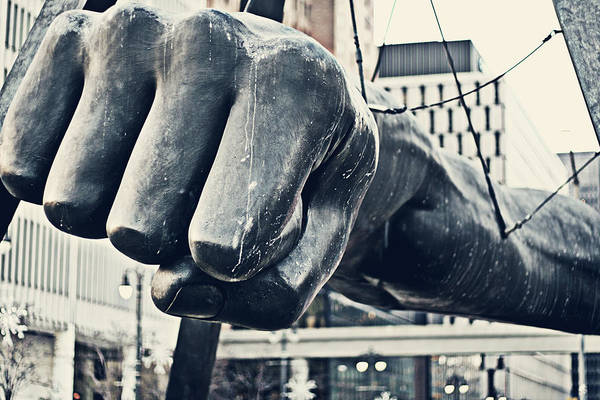 Jefferson Photograph - Detroit Joe Louis Fist - Color by Alanna Pfeffer