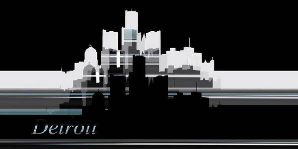 Digital Art - Detroit Lines 1 by Alberto RuiZ