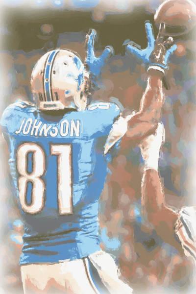 Detroit Lions Photograph - Detroit Lions Calvin Johnson 2 by Joe Hamilton