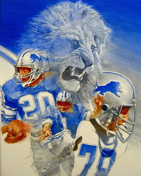 Detroit Lions Game Day Cover Art Print