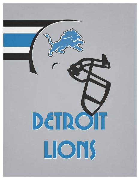 Lion Mixed Media - Detroit Lions Team Vintage Art by Joe Hamilton