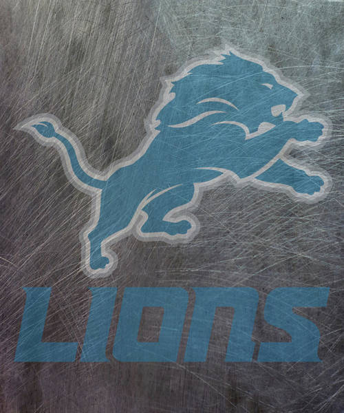Mixed Media - Detroit Lions Translucent Steel by Movie Poster Prints