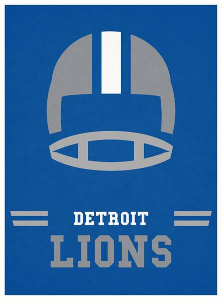 Lion Mixed Media - Detroit Lions Vintage Nfl Art by Joe Hamilton