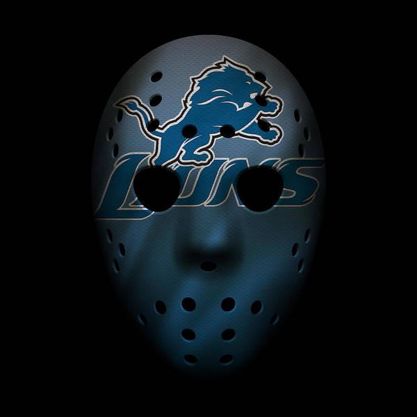 Detroit Lions Photograph - Detroit Lions War Mask 2 by Joe Hamilton