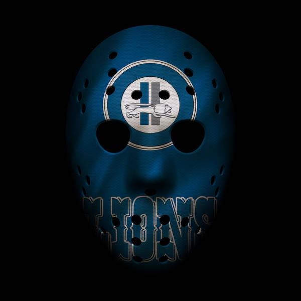 Detroit Lions Photograph - Detroit Lions War Mask by Joe Hamilton