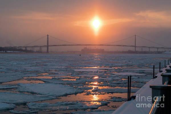 Photograph - Detroit River Sunset by Jim West