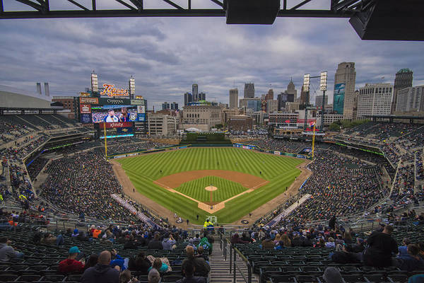 Photograph - Detroit Tigers Comerica Park 4822 by David Haskett II