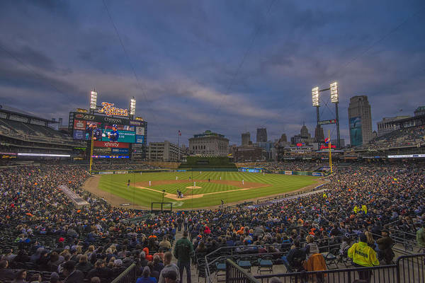 Photograph - Detroit Tigers Comerica Park 4942 Color by David Haskett II