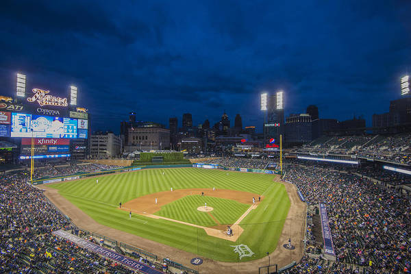 Photograph - Detroit Tigers Comerica Park 5082 by David Haskett II