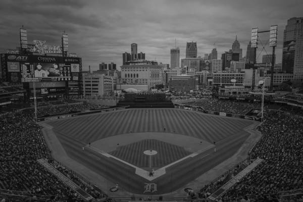 Photograph - Detroit Tigers Comerica Park Bw2  4837  by David Haskett II