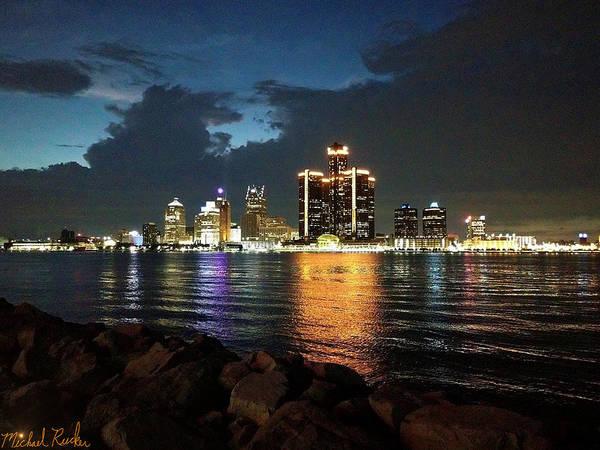 Wall Art - Photograph - Detroit Twilight by Michael Rucker