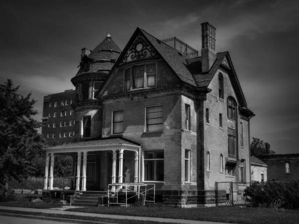 Photograph - Detroit Victorian 001 Bw by Lance Vaughn
