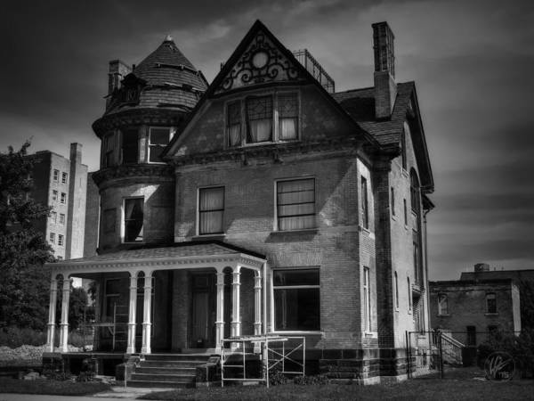 Photograph - Detroit Victorian 002 Bw by Lance Vaughn