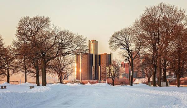 Belle Isle Photograph - Detroit Winter Sunrise by Pat Eisenberger