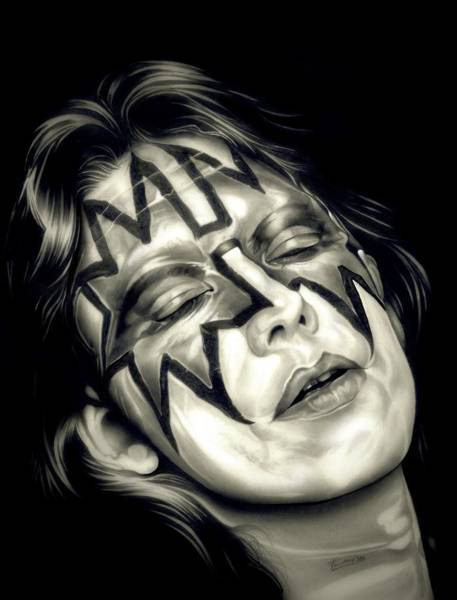 Peter Criss Wall Art - Drawing - Deuce by Fred Larucci