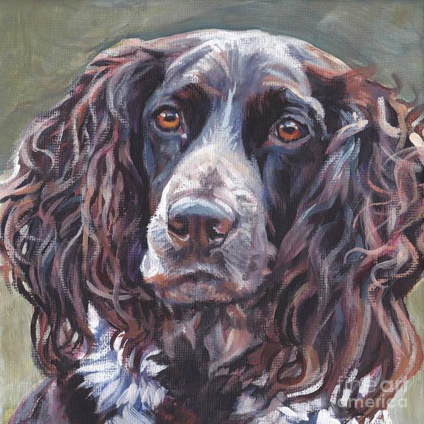 Wall Art - Painting - Deutscher Wachtelhund by Lee Ann Shepard