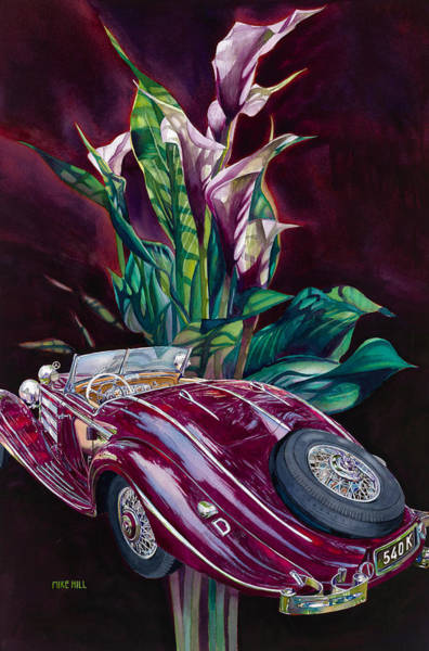 Wall Art - Painting - Deutschland Uber Lilies by Mike Hill