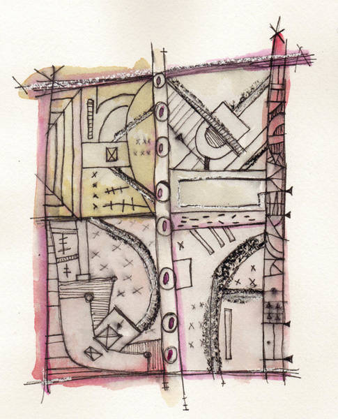 Outsider Wall Art - Painting - Development Las Vegas Strip 2 by Mark M  Mellon