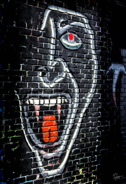Photograph - Devil Face Graffiti by Endre Balogh