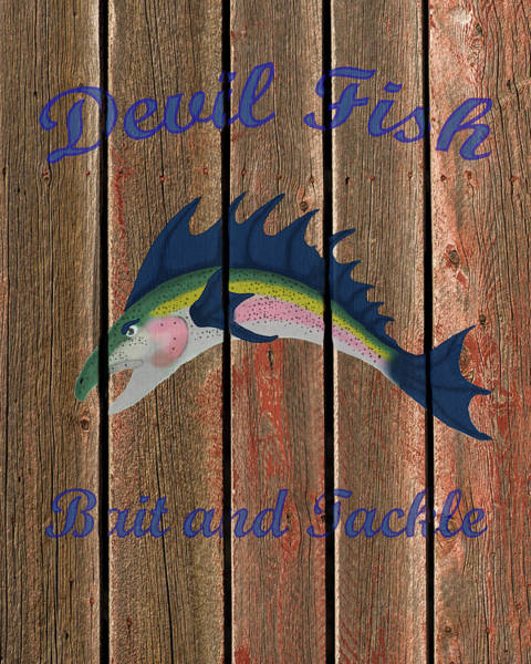 Photograph - Devil Fish Bait And Tackle by TL Mair