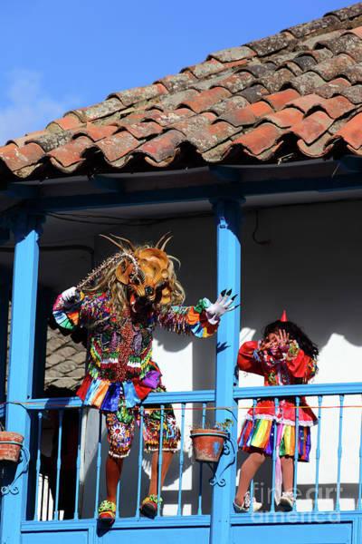 Photograph - Devils At Play Paucartambo Peru by James Brunker