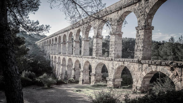 Photograph - Devils Bridge Tarragona Spain Desaturated by Joan Carroll