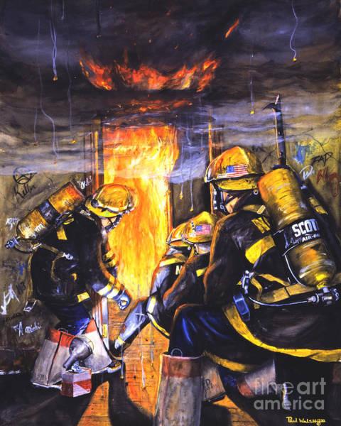 Fire Wall Art - Painting - Devil's Doorway by Paul Walsh