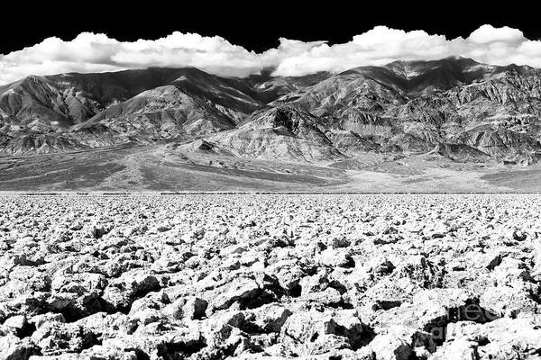 Photograph - Devil's Golf Course At Death Valley by John Rizzuto