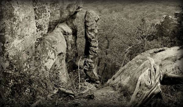 Photograph - Devil's Smokestack Black And White by Sandy Keeton