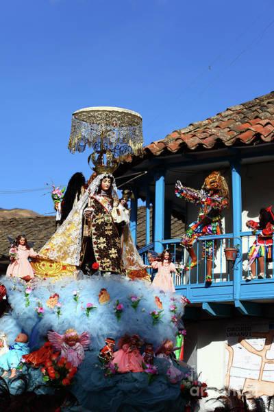 Photograph - Devils Taunt The Virgen Del Carmen Paucartambo Peru by James Brunker