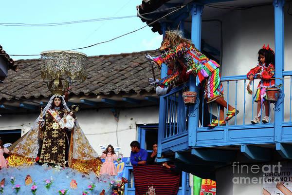 Photograph - Devils Tease The Virgen Del Carmen Paucartambo Peru by James Brunker