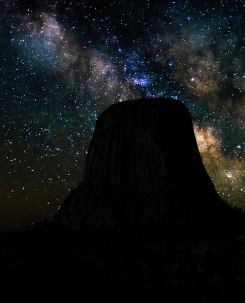 Photograph - Devils Tower And Milky Way by Scott Read