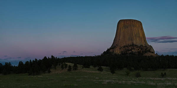 Photograph - Devil's Tower At Dusk by Gary Lengyel