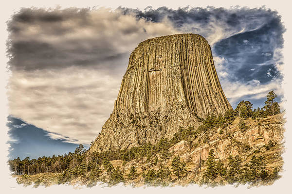 Photograph - Devils Tower Inspiration by John M Bailey
