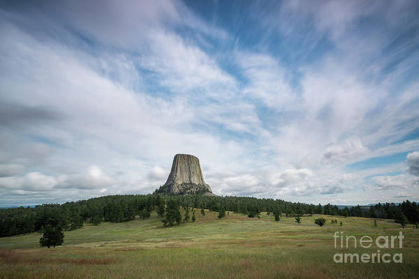 Close Encounters Wall Art - Photograph - Devils Tower Long Exposure  by Michael Ver Sprill