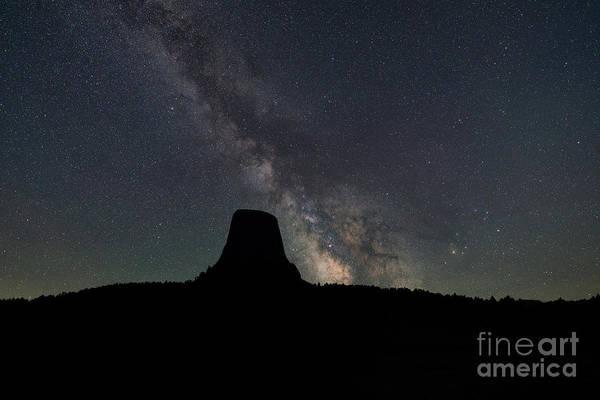 Close Encounters Wall Art - Photograph - Devils Tower Milky Way Silhouette by Michael Ver Sprill