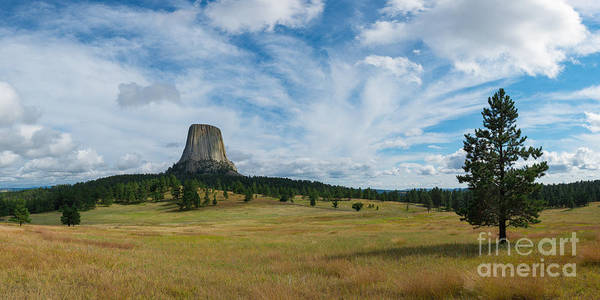 Close Encounters Wall Art - Photograph - Devils Tower Panorama by Michael Ver Sprill