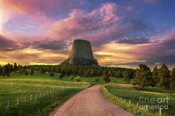 Wall Art - Photograph - Devils Tower Sunrise by Anthony Heflin