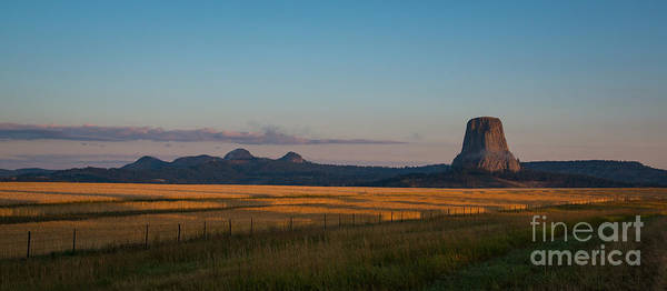 Close Encounters Wall Art - Photograph - Devils Tower Sunrise From A Distance by Michael Ver Sprill