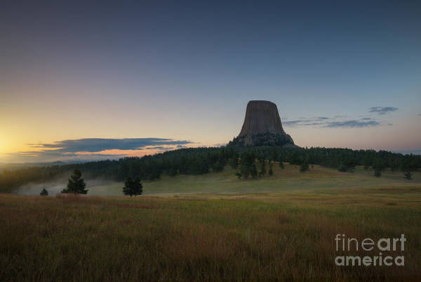 Close Encounters Wall Art - Photograph - Devils Tower Sunrise  by Michael Ver Sprill