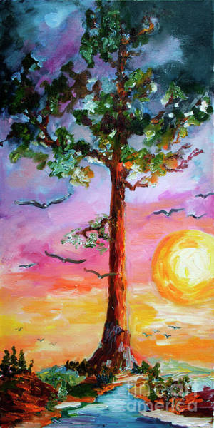 Redwood Trees Painting - Devil's Tower Tree Once Upon A Time by Ginette Callaway