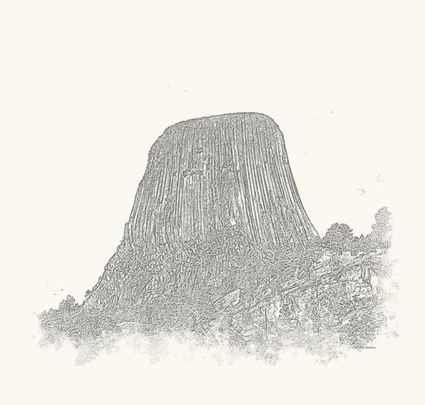 Photograph - Devils Tower Vignette by John M Bailey