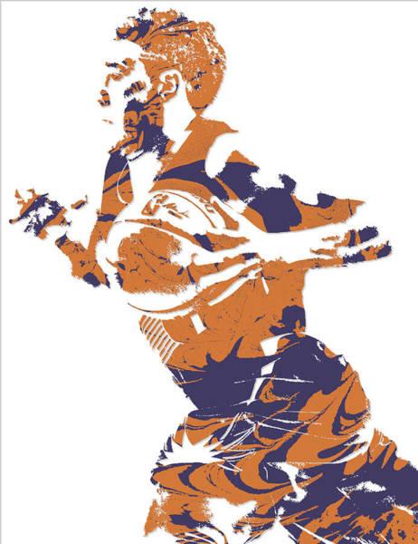 Sun Mixed Media - Devin Booker Phoenix Suns Pixel Art 5 by Joe Hamilton