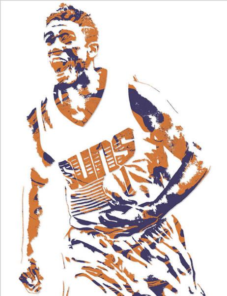 Sun Mixed Media - Devin Booker Phoenix Suns Pixel Art 6 by Joe Hamilton