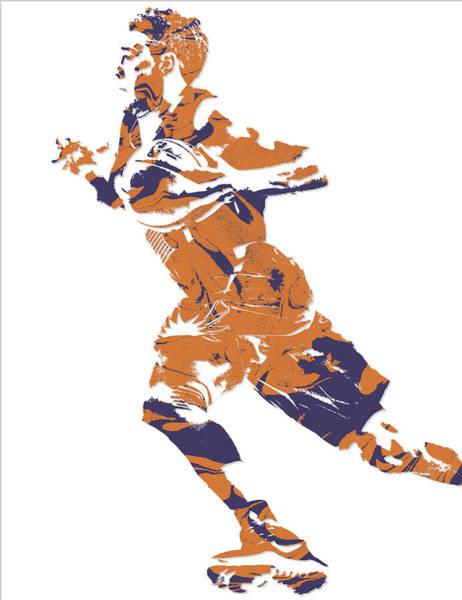 Sun Mixed Media - Devin Booker Phoenix Suns Pixel Art 7 by Joe Hamilton