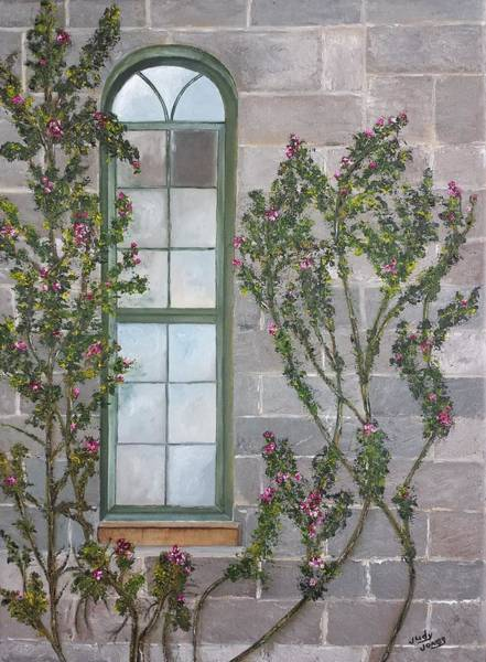 Wall Art - Painting - Devine Window by Judy Jones