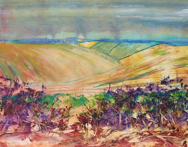 Painting - Devon Valley Landscape Painting - Stormy Winter by Mike Jory