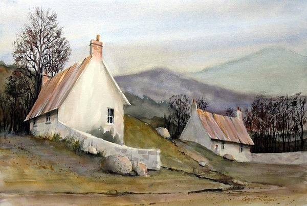 Rural Painting - Devonshire Cottage I by Charles Rowland