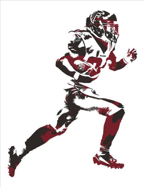 Atlanta Falcons Mixed Media - Devonta Freeman Atlanta Falcons Pixel Art 13 by Joe Hamilton